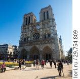 Купить «Cathedral of Notre-Dame, Paris», фото № 29754809, снято 10 октября 2018 г. (c) Яков Филимонов / Фотобанк Лори