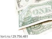 Купить «Dollars bills background. Close up cash money.», фото № 29756481, снято 20 января 2019 г. (c) bashta / Фотобанк Лори