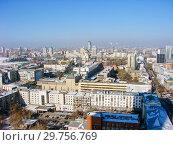 Купить «Городской пейзаж. Вид сверху. Екатеринбург», фото № 29756769, снято 27 февраля 2012 г. (c) Сергей Афанасьев / Фотобанк Лори