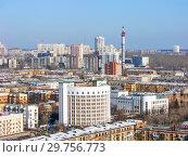 Купить «Городской пейзаж. Вид сверху. Екатеринбург», фото № 29756773, снято 27 февраля 2012 г. (c) Сергей Афанасьев / Фотобанк Лори