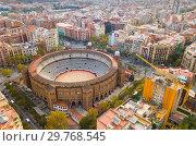Купить «Eixample district and La Monumental», фото № 29768545, снято 19 ноября 2018 г. (c) Яков Филимонов / Фотобанк Лори