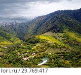 Купить «Армянское село в горах осенью», фото № 29769417, снято 27 сентября 2018 г. (c) Инна Грязнова / Фотобанк Лори