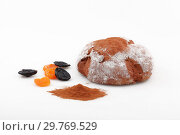 Купить «Baguette with dried apricots and prunes on a white background», фото № 29769529, снято 19 ноября 2011 г. (c) Марина Володько / Фотобанк Лори