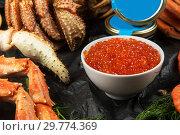 Set of fresh seafood. Стоковое фото, фотограф Jan Jack Russo Media / Фотобанк Лори