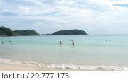 Купить «Nai Harn beach, south of Phuket Island», видеоролик № 29777173, снято 19 ноября 2018 г. (c) Игорь Жоров / Фотобанк Лори