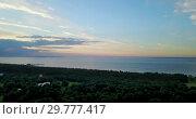 Купить «Panoramic view from the drone of the coast of the Gulf of Finland during a sunset near the park Alexandria, St. Petersburg, Russia», видеоролик № 29777417, снято 22 января 2009 г. (c) Куликов Константин / Фотобанк Лори