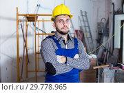 Купить «Portrait of craftsperson which is working», фото № 29778965, снято 3 июня 2017 г. (c) Яков Филимонов / Фотобанк Лори