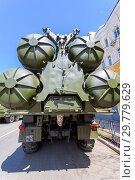 Купить «Russian anti-aircraft missile system (SAM) S-300», фото № 29779629, снято 5 мая 2018 г. (c) FotograFF / Фотобанк Лори