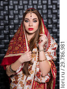 Купить «Portrait of nice Indian woman.», фото № 29786981, снято 15 декабря 2016 г. (c) Сергей Сухоруков / Фотобанк Лори