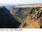 Купить «Mountain valley landscape, Saghmosavank», фото № 29795965, снято 21 сентября 2018 г. (c) Инна Грязнова / Фотобанк Лори