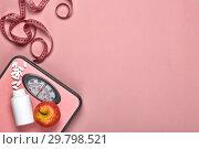Купить «Healthy lifestyle concept. Slimming», фото № 29798521, снято 8 марта 2018 г. (c) Мельников Дмитрий / Фотобанк Лори