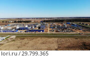 Power Plant under Construction.Plant for the production of liquefied natural gas. Стоковое видео, видеограф Никита Ковалёв / Фотобанк Лори