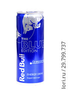 Купить «Red Bull The Blue Edition», фото № 29799737, снято 26 января 2019 г. (c) Art Konovalov / Фотобанк Лори