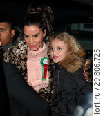 Купить «Katie Price leaves Portcullis House, with her mother Amy and son Harvey, after addressing a parliamentary sub-committee on on-line hate Featuring: Katie...», фото № 29806725, снято 6 февраля 2018 г. (c) age Fotostock / Фотобанк Лори