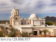 Купить «The Mission Church of San Xavier del bac in Tucson, Arizona, USA.», фото № 29806977, снято 12 января 2019 г. (c) age Fotostock / Фотобанк Лори