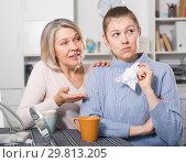 Купить «Mature mom apologizes to daughter after quarrel», фото № 29813205, снято 19 марта 2019 г. (c) Яков Филимонов / Фотобанк Лори