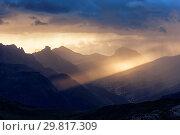 Fodom Valley, Dolomites, Livinallongo del Col di Lana, Veneto, Italy. Стоковое фото, фотограф ClickAlps / age Fotostock / Фотобанк Лори