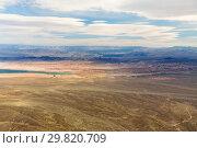 Купить «aerial view of grand canyon desert and lake mead», фото № 29820709, снято 1 марта 2018 г. (c) Syda Productions / Фотобанк Лори