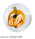 Купить «Delicious poultry dish – baked turkey breast», фото № 29821901, снято 21 июля 2019 г. (c) Яков Филимонов / Фотобанк Лори