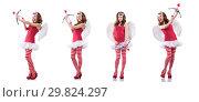 Купить «Woman with bow in valentine concept», фото № 29824297, снято 18 декабря 2012 г. (c) Elnur / Фотобанк Лори
