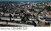 Купить «Aerial summer view of Orleans Cathedral and old buildings of Orleans, France», видеоролик № 29849121, снято 25 октября 2018 г. (c) Яков Филимонов / Фотобанк Лори