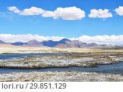 Купить «Облака над озером Рулдан (Нак) на Тибетском нагорье летом. Китай», фото № 29851129, снято 11 июня 2018 г. (c) Овчинникова Ирина / Фотобанк Лори