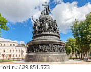 Купить «Millennium of Russia monument (1862) in Novgorod Kremlin, Russia», фото № 29851573, снято 17 августа 2017 г. (c) FotograFF / Фотобанк Лори