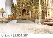 Купить «Orthodox iconostasis inside the Holy Trinity Cathedral», фото № 29851581, снято 10 июня 2018 г. (c) FotograFF / Фотобанк Лори