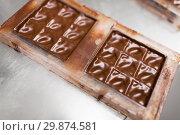 Купить «chocolate in candy mold at confectionery shop», фото № 29874581, снято 4 декабря 2018 г. (c) Syda Productions / Фотобанк Лори
