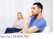 Купить «unhappy couple having argument at home», фото № 29874753, снято 9 февраля 2014 г. (c) Syda Productions / Фотобанк Лори