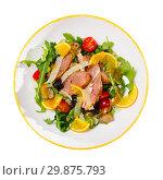 Купить «Appetizing poultry salad with duck breast», фото № 29875793, снято 21 июля 2019 г. (c) Яков Филимонов / Фотобанк Лори