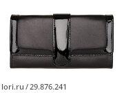 Купить «Women's black wallet isolated on white», фото № 29876241, снято 8 ноября 2014 г. (c) Людмила Дутко / Фотобанк Лори