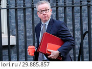 Купить «Ministers attend weekly cabinet meeting in Downing Street. Featuring: Michael Gove - Secretary of State for Environment, Food and Rural Affairs Where:...», фото № 29885857, снято 16 января 2018 г. (c) age Fotostock / Фотобанк Лори