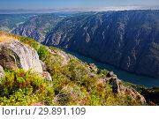Купить «river with steep rocky banks. Galicia, Spain», фото № 29891109, снято 25 мая 2019 г. (c) Яков Филимонов / Фотобанк Лори