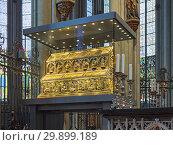 Купить «Рака трёх волхвов в Кёльнском соборе, Германия», фото № 29899189, снято 10 декабря 2018 г. (c) Михаил Марковский / Фотобанк Лори
