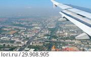 Купить «Aerial view from descending airplane», видеоролик № 29908905, снято 31 декабря 2018 г. (c) Игорь Жоров / Фотобанк Лори