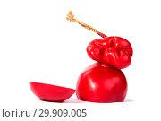 Купить «Твёрдый копчёный сыр ручной работы в парафиновой оболочке», фото № 29909005, снято 13 января 2019 г. (c) V.Ivantsov / Фотобанк Лори