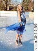 Valentina Pahde at a photocall of 'Holiday on Ice Atlantis' at Planten... (2018 год). Редакционное фото, фотограф Becher / WENN.com / age Fotostock / Фотобанк Лори