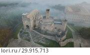 Купить «Top view of the castle Castillo de Javier. Huesca Province. Aragon. Spain», видеоролик № 29915713, снято 23 декабря 2018 г. (c) Яков Филимонов / Фотобанк Лори