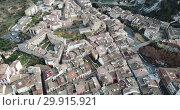 Aerial view of Estella-Lizarra medieval town in Navarre, Spain (2018 год). Стоковое видео, видеограф Яков Филимонов / Фотобанк Лори