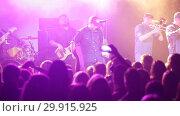 Купить «Lyapis-98 band in concert at Sala Apolo, Barcelona, Spain», видеоролик № 29915925, снято 22 ноября 2018 г. (c) Яков Филимонов / Фотобанк Лори