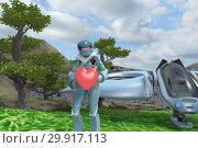 Купить «Сердце в подарок. иллюстрация 3д.», иллюстрация № 29917113 (c) Инга Прасолова / Фотобанк Лори