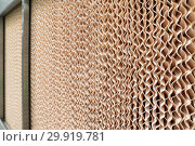 Купить «Corrugated surface of cardboard industrial filter.», фото № 29919781, снято 17 июня 2016 г. (c) Андрей Радченко / Фотобанк Лори
