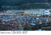 Traffic Queues in and out of Bluewater shopping in Kent. Tailbacks... (2017 год). Редакционное фото, фотограф WENN.com / age Fotostock / Фотобанк Лори