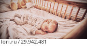 Купить «Baby boy sleeping on a cradle», фото № 29942481, снято 20 января 2020 г. (c) Wavebreak Media / Фотобанк Лори