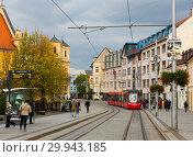 Купить «BRATISLAVA, SLOVAKIA - NOVENBER 3, 2017: Image of center of Bratislava», фото № 29943185, снято 3 ноября 2017 г. (c) Яков Филимонов / Фотобанк Лори