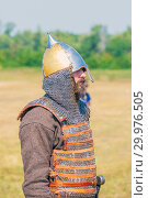 "Купить «Russia, Samara, August, 2018: The image of a Russian warrior. Military history festival ""Military case"" with», фото № 29976505, снято 5 августа 2018 г. (c) Акиньшин Владимир / Фотобанк Лори"