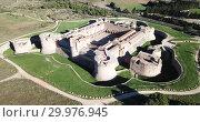 Купить «Aerial view of Catalan fortress Fort de Salses at sunny day, France», видеоролик № 29976945, снято 3 января 2019 г. (c) Яков Филимонов / Фотобанк Лори