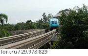 Купить «Monorail train from Sentosa island», видеоролик № 29978829, снято 24 ноября 2018 г. (c) Игорь Жоров / Фотобанк Лори