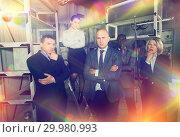 Купить «Thoughtful people at escape room», фото № 29980993, снято 29 января 2019 г. (c) Яков Филимонов / Фотобанк Лори